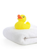 Bath accessories. Bath towels Royalty Free Stock Image