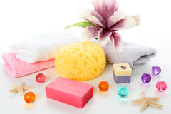 Bath accessories royalty free stock images