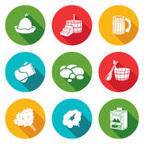 Bath Accessories Icons Set. Vector Illustration. Royalty Free Stock Photo