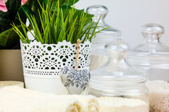 Bath accessories. Personal hygiene items. Royalty Free Stock Photography