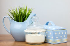 Bath accessories. Personal hygiene items. Royalty Free Stock Photos