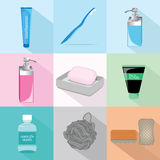 Bath Accessories Set Vector Royalty Free Stock Image