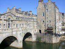 Bath Angleterre de passerelle de Pulteney photographie stock