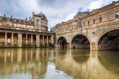 Bath Angleterre de pont de Pulteney Image stock