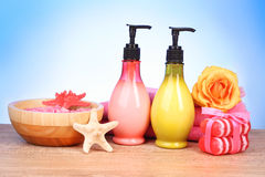 Bath aromatic salt, rose and sea stars Stock Image