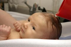 Bath for Baby Stock Images