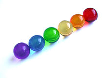 Bath balls rainbow. Rainbow of bath ball bubbles Stock Image