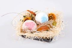 Bath balls and soap Royalty Free Stock Photo
