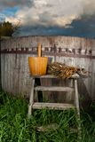Bath Barrel with broom Royalty Free Stock Photography