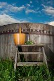Bath Barrel with broom Stock Image
