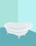 Bath bathroom, bath white Stock Image