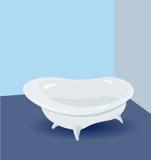 Bath bathroom, bath white Stock Images
