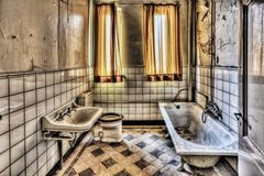 Bath, Bathroom, Hdr, Monastery Stock Photos