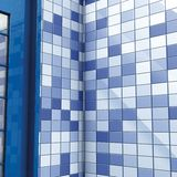 Bath blue tiles and door Royalty Free Stock Image