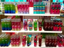 Bath and body works on stack Stock Image