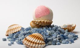 Bath bombs, essential oils, aromatherapy, spa Stock Image