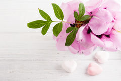 Bath bombs on old wooden background Stock Image