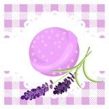 Bath bubble bomb. Aromatherapy bomb badge. Stock Image