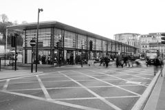 Bath Bus Station, motion blur people Stock Photography