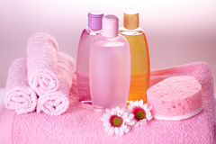 Bath care cosmetics Stock Images