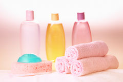 Bath care objects Royalty Free Stock Photo