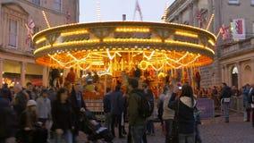 Bath Carousel, Blurred people stock video