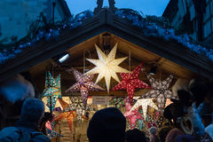 Bath Christmas Market - Christmas Star in Market Royalty Free Stock Images
