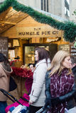Bath Christmas Market - The Humble Pie Co Stall Royalty Free Stock Photos