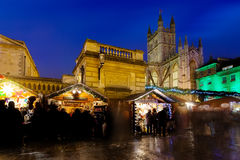 Bath Christmas Market at Night Stock Image