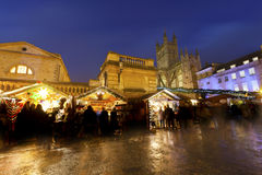 Bath Christmas Market at Night Stock Photos