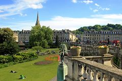 Bath City centre - park, UK Royalty Free Stock Image