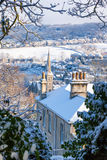 Bath City Covered in Snow Stock Photo
