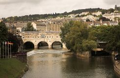 Bath city - Pulteney Bridge Royalty Free Stock Images
