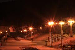 Bath colonnade at night. Beautiful bath colonnade at night Royalty Free Stock Images