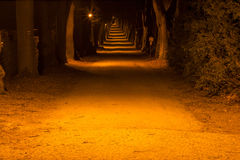 Bath colonnade at night. In mountains Stock Image