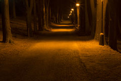 Bath colonnade at night. In mountains Stock Photo