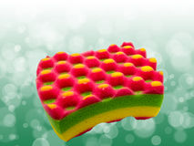 Bath colorful sponge Royalty Free Stock Image
