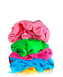 Bath colorful towels Stock Photo
