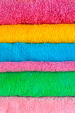 Bath colorful towels Stock Photos