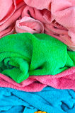 Bath colorful towels Stock Image