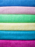 Bath colorful towels Stock Images