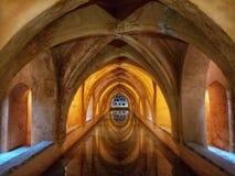 Bath crypt in the Alcazar palace. Bath crypt of the Alcazar palace in Sevilla Spain stock photography