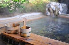 Bath d'air ouvert de Japonais Images stock