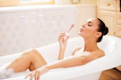 Bath de bulle Images stock