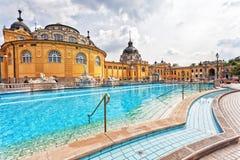 Bath de courant ascendant de Szechenyi Images libres de droits