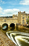 Bath de pont de Pulteney Photos libres de droits