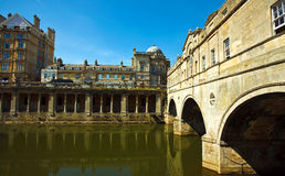 Bath de pont de Pulteney Photographie stock libre de droits