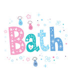 Bath de Word Photo stock