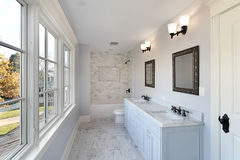 Bath with double sink Stock Image