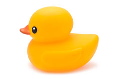 Bath Duck. Yellow Rubber Bath Duck isolated on white Royalty Free Stock Photo